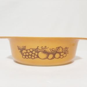 Pyrex Vintage Old Orchard Oval Casserole Di